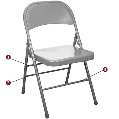 Advantage Gray Metal Folding Chair (EDPI903MGREY40)