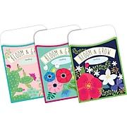 Barker Creek Modern Garden Library Pockets, Assorted Designs, 90/Set (4075)