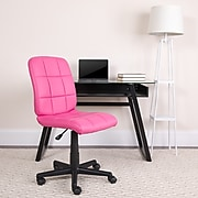 Flash Furniture Mid-Back Quilted Vinyl Task Chair, Pink