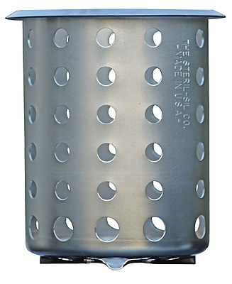 Steril-Sil Silverware Cylinder, Stainless, Heavy Duty (S-500)
