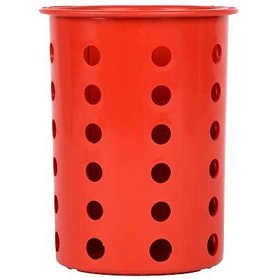Steril-Sil Silverware Cylinder, Red, Plastic (RP-25-RED)