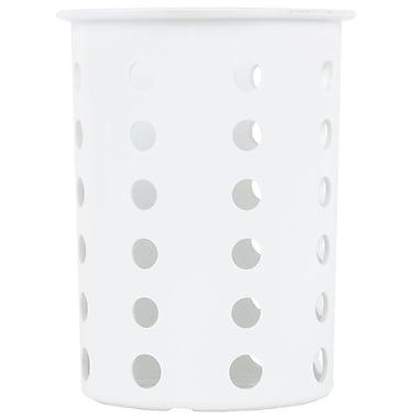 Steril-Sil Silverware Cylinder, White, Plastic (RP-25-WHITE)