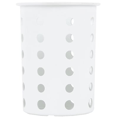 Steril-Sil Silverware Cylinder, White, Plastic (RP-25-WHITE)