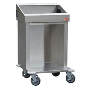 "Steril-Sil Cart, 24"", Interchangable Pan Size Configuration, Stainless-Steel (CRT24-3TP)"