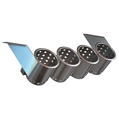 Steril-Sil UnderBar Silverware Dispenser, 4-Hole, Stainless Steel, Cylinders Included (UB-4SS)