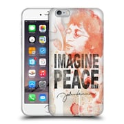 OFFICIAL JOHN LENNON FAN ART Image Peace Soft Gel Case for Apple iPhone 6 Plus / 6s Plus