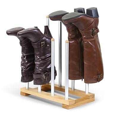INNOKA 4 Pairs Boot Rack Organizer, Standing Wooden & Aluminum Storage Holder Hanger(2329258)