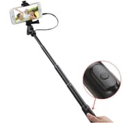 Insten Black Handheld Wired Selfie Stick Tripod Monopod (2124178)