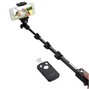 Insten Black Tripod Monopod Wireless Remote Control Kit For iPhone 6 6+ 5 Samsung Galaxy S6 S5 HTC Android IOS Camera