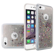 Insten Liquid Quicksand Glitter Fused Flexible Hybrid TPU Cover Case For Apple iPhone 6 / 6s - Silver