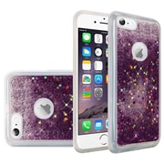 Insten Liquid Quicksand Glitter Fused Flexible Hybrid TPU Cover Case For Apple iPhone 6 / 6s - Dark Purple