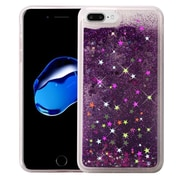 Insten Liquid Quicksand Glitter Fused Flexible Hybrid TPU Cover Case For Apple iPhone 7 Plus - Dark Purple