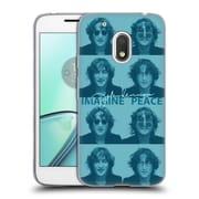 OFFICIAL JOHN LENNON KEY ART Square Collage Soft Gel Case for Motorola Moto G4 Play
