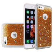 Insten Liquid Quicksand Glitter Fused Flexible Hybrid TPU Cover Case For Apple iPhone 6s Plus / 6 Plus - Gold