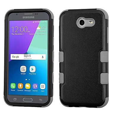 Insten TUFF Hybrid Protective Cover Case (Military-Grade Certified) For Samsung Galaxy J3 (2017) - Black/Iron Gray