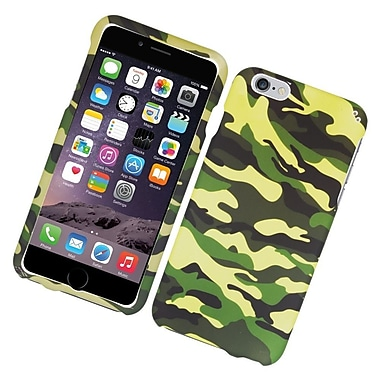 Insten Camouflage Hard Rubberized Case For Apple iPhone 6s Plus / 6 Plus - Green/Black