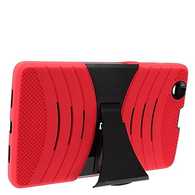 Insten Wave Symbiosis Armor Hybrid Hard Stand Protective Case Back Cover For LG G Pad 8.0 / G Pad X 8.0 - Red/Black