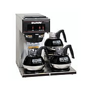 Bunn VP17-3 12-Cup Pour-Over Coffee Maker with 3 Warmers, Stainless Steel/Black (13300.0003)