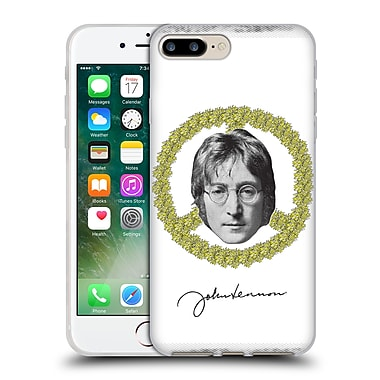 OFFICIAL JOHN LENNON FAN ART Floral Peace Soft Gel Case for Apple iPhone 7 Plus