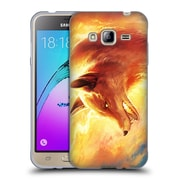 "OFFICIAL JONAS ""JOJOESART"" JODICKE WILDLIFE Fire Fox Soft Gel Case for Samsung Galaxy J3 (C_1B6_1DBCD)"