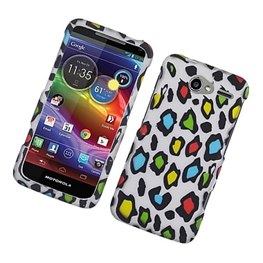 Insten Leopard Hard Rubber Coated Case For Motorola Electrify M - Multi-Color