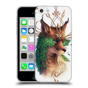"OFFICIAL JONAS ""JOJOESART"" JODICKE WILDLIFE Fox Coloured Soft Gel Case for Apple iPhone 5c (C_E_1DBCF)"