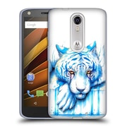 "OFFICIAL JONAS ""JOJOESART"" JODICKE BIG CATS Blue Tears Soft Gel Case for DROID Turbo 2 / X Force (C_1C3_1DBB7)"