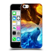 "OFFICIAL JONAS ""JOJOESART"" JODICKE WILDLIFE Fire And Ice Soft Gel Case for Apple iPhone 5c (C_E_1DBCC)"