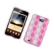 Insten Pink Argyle Hard Snap-in Back Protective Case Cover For Samsung Galaxy Note LTE