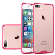 """Insten Ultra Slim Hard Crystal Clear Transparent Fused Case Cover For Apple iPhone 7 4.7"""" - Clear/Hot Pink"""