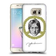 OFFICIAL JOHN LENNON FAN ART Floral Peace Soft Gel Case for Samsung Galaxy S7 edge