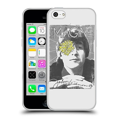OFFICIAL JOHN LENNON KEY ART Flower Eye Soft Gel Case for Apple iPhone 5c