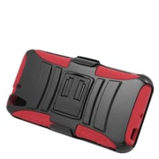 Insten Stand Dual Layer Hybrid Case with Holster For HTC Desire Eye - Black/Red