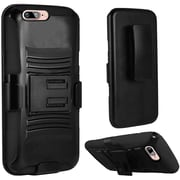 Insten Hard Dual-Layer Holster Case with Kickstand & Belt Clip for iPhone 7 - Black