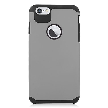Insten Hard Hybrid Rubber Coated Silicone Case For Apple iPhone 6s Plus / 6 Plus - Gray/Black