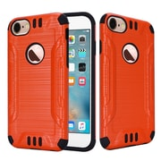 Insten Ultra Slim Hard Hybrid Silicone Plastic 2-Layer Cover Case For Apple iPhone 7 - Orange/Black