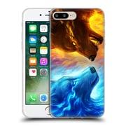 "OFFICIAL JONAS ""JOJOESART"" JODICKE WILDLIFE Fire And Ice Soft Gel Case for Apple iPhone 7 Plus (C_1FA_1DBCC)"