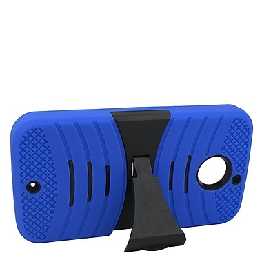 Insten Hybrid Rubber Hard Case with stand For Motorola Moto X (2nd Gen) - Blue/Black