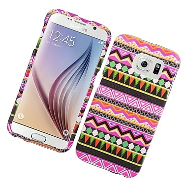 Insten Elegant Tribal Hard Rubberized Case For Samsung Galaxy S6 - Colorful