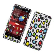 Insten Leopard Hard Rubber Case For Motorola Droid Razr M - Multi-Color