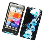 Insten Flowers Hard Case For Motorola Droid Razr HD - Black/Blue