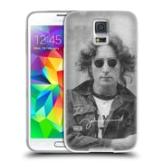 OFFICIAL JOHN LENNON KEY ART Black And White Soft Gel Case for Samsung Galaxy S5 / S5 Neo