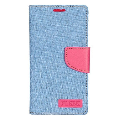 Insten Folio Wallet Leather Case with Card slot & Photo Display For LG K7 - Light Blue/Pink