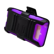 Insten Advanced Armor Dual Layer Hybrid Stand PC/Silicone Holster Case Cover for Motorola Droid Mini - Black/Purple