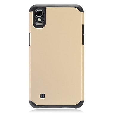 Insten Rubberized Hybrid Dual Layer Hard TPU Protective Case Cover For LG X Power - Gold/Black