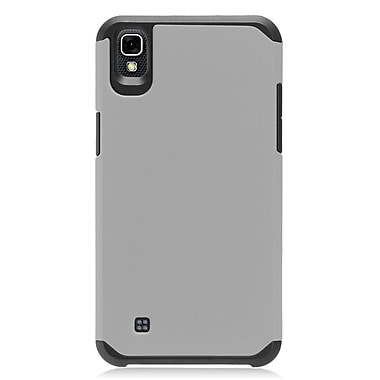 Insten Rubberized Hybrid Dual Layer Hard TPU Protective Case Cover For LG X Power - Gray/Black