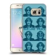 OFFICIAL JOHN LENNON KEY ART Square Collage Soft Gel Case for Samsung Galaxy S7 edge
