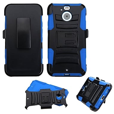 Insten Hard Dual Layer Plastic Silicone Case w/Holster For HTC Bolt - Black/Blue