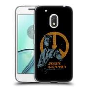 OFFICIAL JOHN LENNON KEY ART Peace Soft Gel Case for Motorola Moto G4 Play