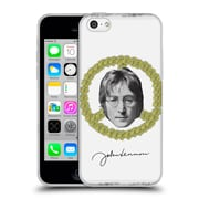 OFFICIAL JOHN LENNON FAN ART Floral Peace Soft Gel Case for Apple iPhone 5c
